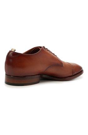 Мужские кожаные дерби OFFICINE CREATIVE коричневого цвета, арт. PR0VIDENCE/013/AER0 CANY0N   Фото 4 (Мужское Кросс-КТ: Броги-обувь; Материал внутренний: Натуральная кожа; Стили: Классический)