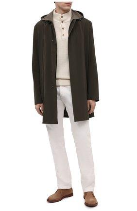 Мужские замшевые ботинки BRUNELLO CUCINELLI коричневого цвета, арт. MZUPLHE801 | Фото 2 (Материал внутренний: Натуральная кожа; Подошва: Плоская; Мужское Кросс-КТ: Дезерты-обувь, Ботинки-обувь; Материал внешний: Замша)