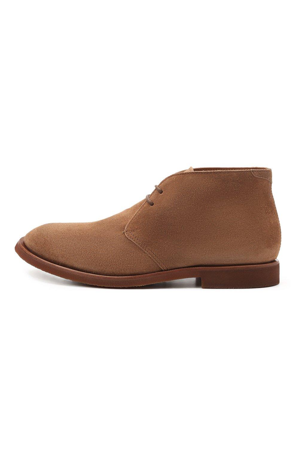 Мужские замшевые ботинки BRUNELLO CUCINELLI коричневого цвета, арт. MZUPLHE801   Фото 3