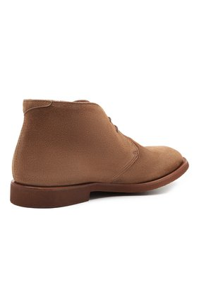 Мужские замшевые ботинки BRUNELLO CUCINELLI коричневого цвета, арт. MZUPLHE801   Фото 4
