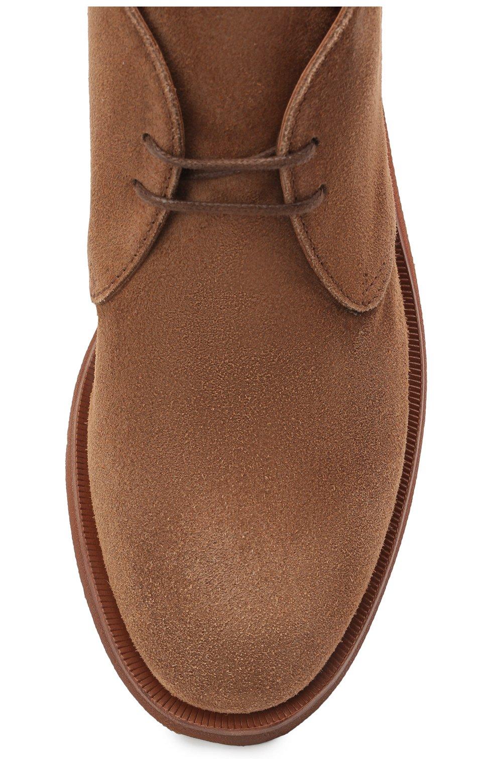 Мужские замшевые ботинки BRUNELLO CUCINELLI коричневого цвета, арт. MZUPLHE801   Фото 5