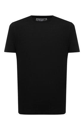 Мужская хлопковая футболка FEDELI черного цвета, арт. 4UEF0113   Фото 1