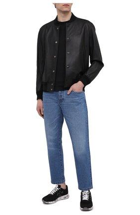 Мужская хлопковая футболка FEDELI черного цвета, арт. 4UEF0113   Фото 2
