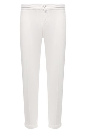 Мужские брюки KITON белого цвета, арт. UFPLACJ07T37 | Фото 1