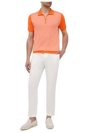 Мужские брюки KITON белого цвета, арт. UFPLACJ07T37 | Фото 2