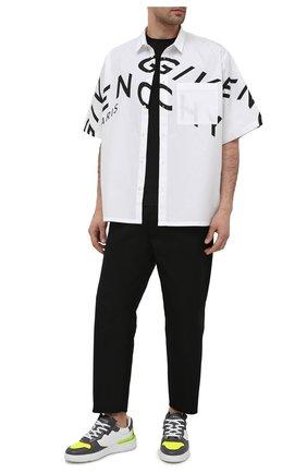 Мужские кожаные кеды wing GIVENCHY серого цвета, арт. BH002KH0SN | Фото 2 (Материал внутренний: Текстиль, Натуральная кожа; Подошва: Массивная)