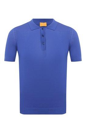 Мужское хлопковое поло SVEVO синего цвета, арт. 8277SE21/MP0002 | Фото 1