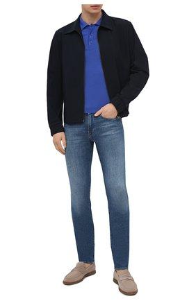 Мужское хлопковое поло SVEVO синего цвета, арт. 8277SE21/MP0002 | Фото 2