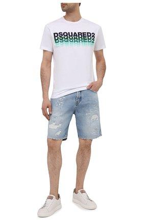 Мужские джинсовые шорты DON THE FULLER голубого цвета, арт. DHS1/SE0UL SH0RT/DTF/CLBSS783 | Фото 2