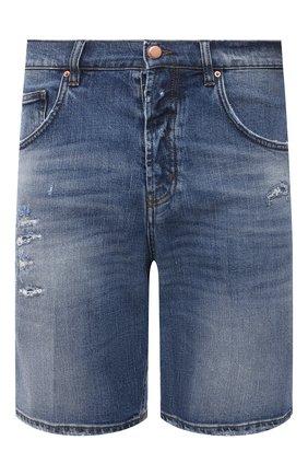 Мужские джинсовые шорты DON THE FULLER синего цвета, арт. DHS1/SE0UL SH0RT/DTF/UTSS719 | Фото 1