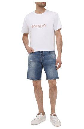 Мужские джинсовые шорты DON THE FULLER синего цвета, арт. DHS1/SE0UL SH0RT/DTF/UTSS719 | Фото 2