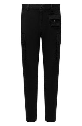 Мужские хлопковые брюки-карго DIESEL черного цвета, арт. A01681/0IBAM | Фото 1