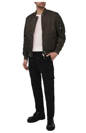 Мужские хлопковые брюки-карго DIESEL черного цвета, арт. A01681/0IBAM | Фото 2