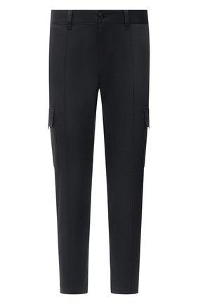 Мужские хлопковые брюки-карго DOLCE & GABBANA синего цвета, арт. GWBWET/FUFJR | Фото 1 (Материал внешний: Хлопок; Длина (брюки, джинсы): Стандартные; Силуэт М (брюки): Карго; Стили: Кэжуэл; Случай: Повседневный)