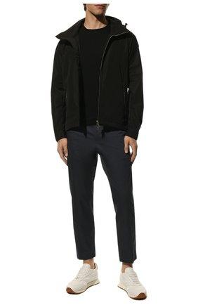Мужские хлопковые брюки-карго DOLCE & GABBANA синего цвета, арт. GWBWET/FUFJR | Фото 2 (Материал внешний: Хлопок; Длина (брюки, джинсы): Стандартные; Силуэт М (брюки): Карго; Стили: Кэжуэл; Случай: Повседневный)