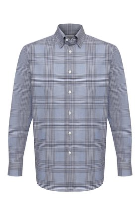 Мужская хлопковая рубашка BRIONI голубого цвета, арт. SCAY0L/P0022 | Фото 1