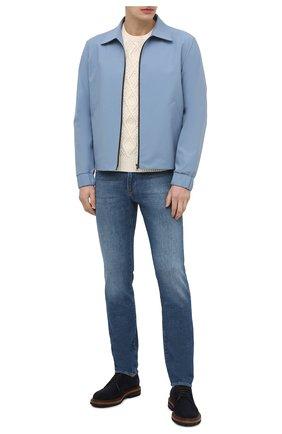 Мужской хлопковый свитер POLO RALPH LAUREN кремвого цвета, арт. 710841559 | Фото 2