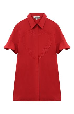 Детское хлопковое платье SIMONETTA красного цвета, арт. 1O1041 | Фото 1
