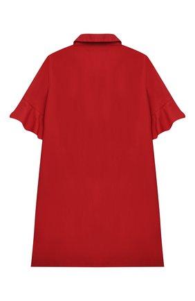 Детское хлопковое платье SIMONETTA красного цвета, арт. 1O1041 | Фото 2