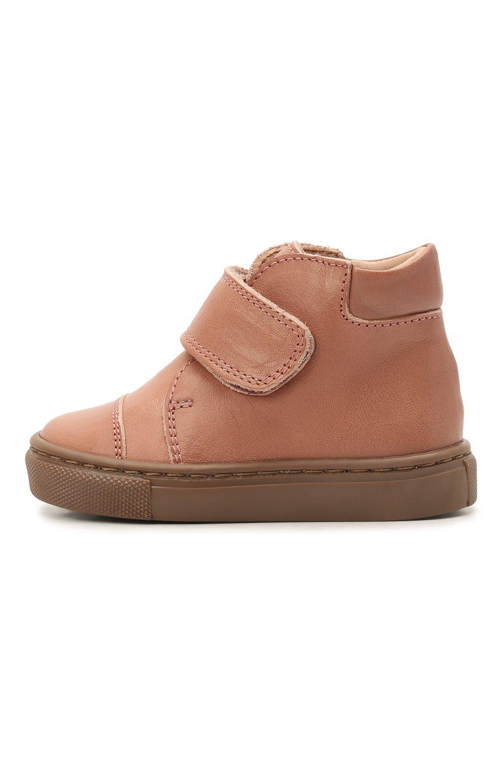 Детские кожаные ботинки PETIT NORD розового цвета, арт. 2530/19-23   Фото 2 (Материал внутренний: Натуральная кожа)