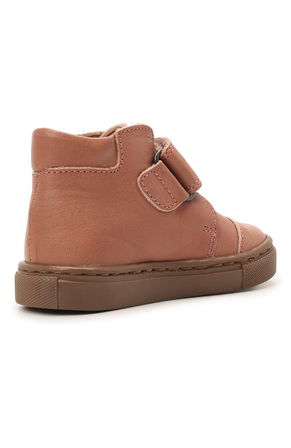 Детские кожаные ботинки PETIT NORD розового цвета, арт. 2530/19-23   Фото 3 (Материал внутренний: Натуральная кожа)