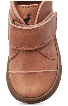 Детские кожаные ботинки PETIT NORD розового цвета, арт. 2530/19-23   Фото 4 (Материал внутренний: Натуральная кожа)
