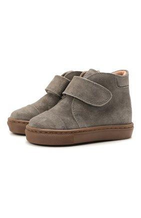 Детские кожаные ботинки PETIT NORD серого цвета, арт. 2530/19-23 | Фото 1
