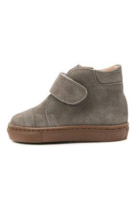 Детские кожаные ботинки PETIT NORD серого цвета, арт. 2530/19-23 | Фото 2
