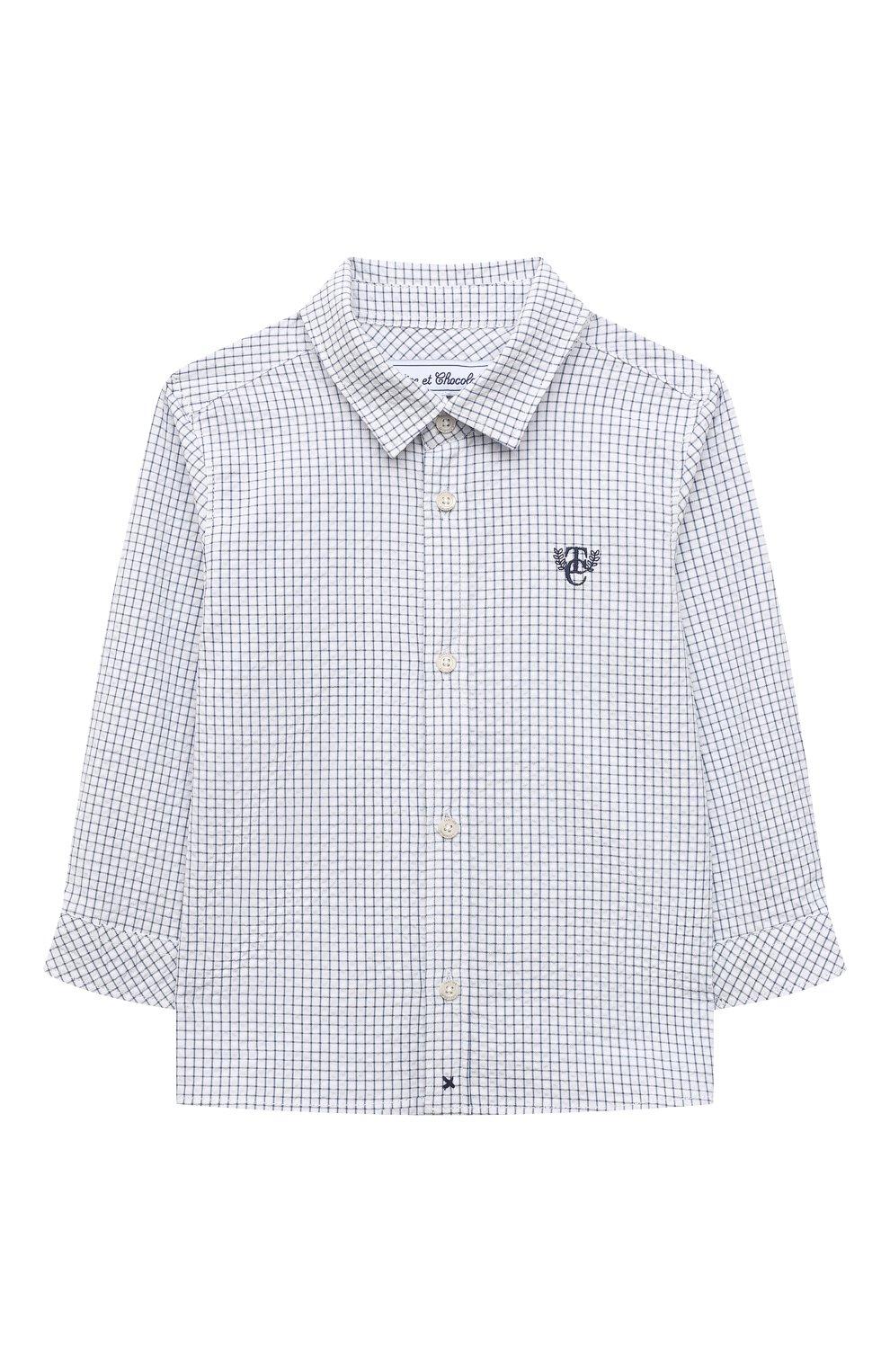 Детский хлопковая рубашка TARTINE ET CHOCOLAT темно-синего цвета, арт. TS12131/1M-1A | Фото 1