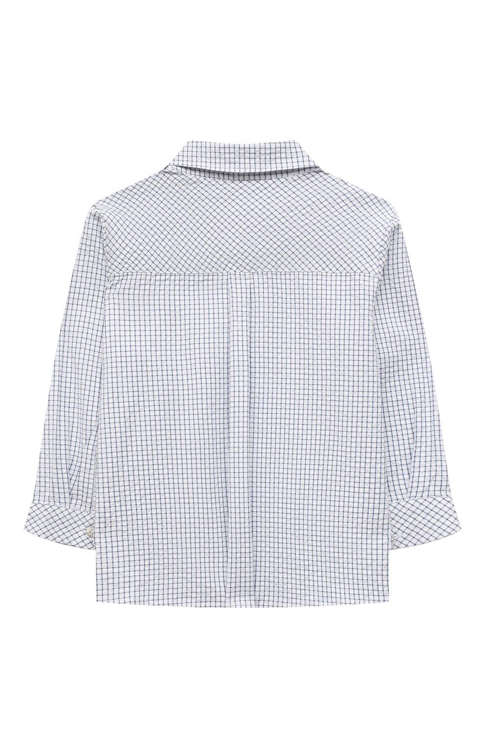 Детский хлопковая рубашка TARTINE ET CHOCOLAT темно-синего цвета, арт. TS12131/1M-1A | Фото 2