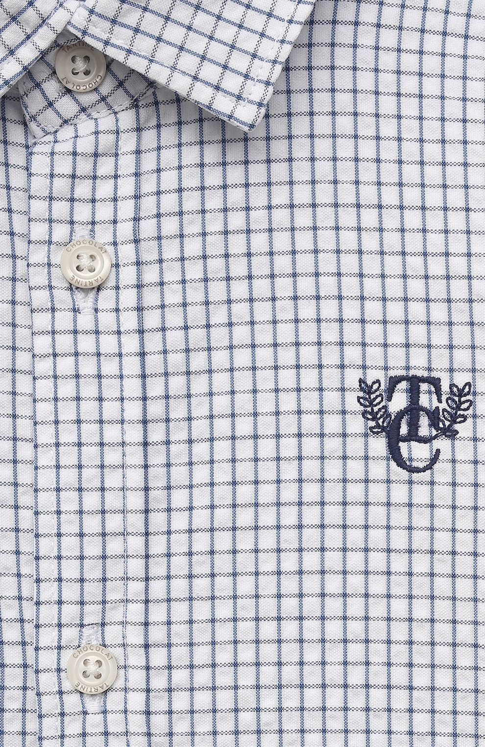 Детский хлопковая рубашка TARTINE ET CHOCOLAT темно-синего цвета, арт. TS12131/1M-1A | Фото 3