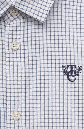 Детский хлопковая рубашка TARTINE ET CHOCOLAT темно-синего цвета, арт. TS12131/18M-3A   Фото 3 (Рукава: Длинные; Материал внешний: Хлопок; Ростовка одежда: 18 мес   86 см, 24 мес   92 см, 36 мес   98 см)