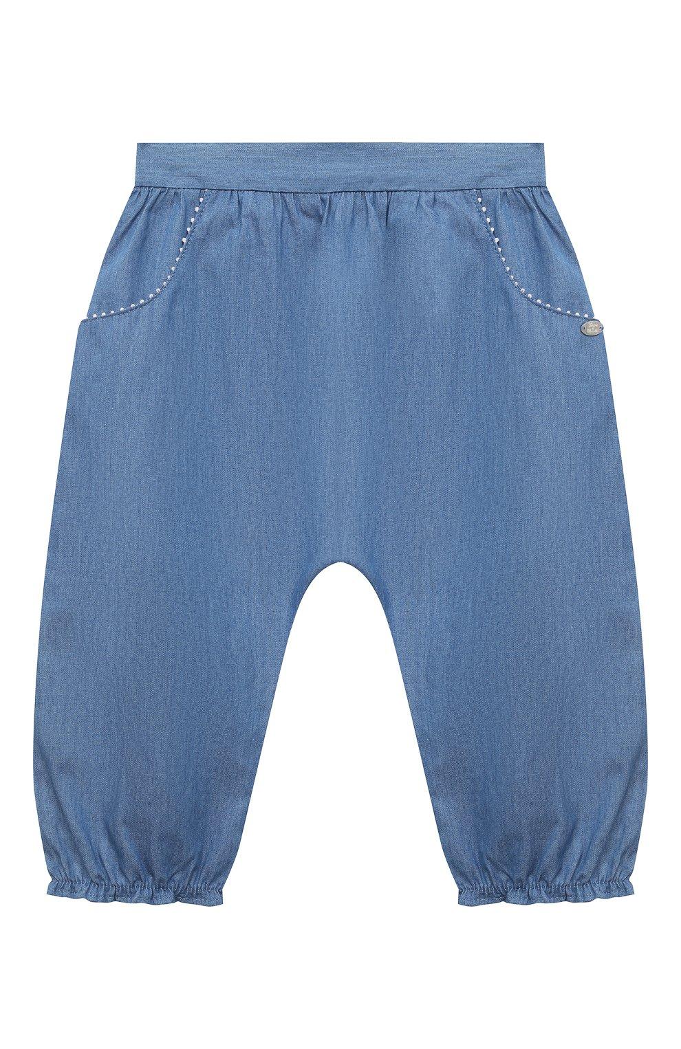 Детские хлопковые брюки TARTINE ET CHOCOLAT синего цвета, арт. TS22001/1M-1A | Фото 1