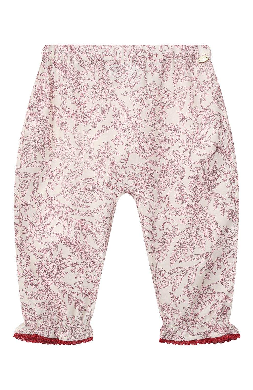 Детские хлопковые брюки TARTINE ET CHOCOLAT красного цвета, арт. TS22041/1M-18M   Фото 1