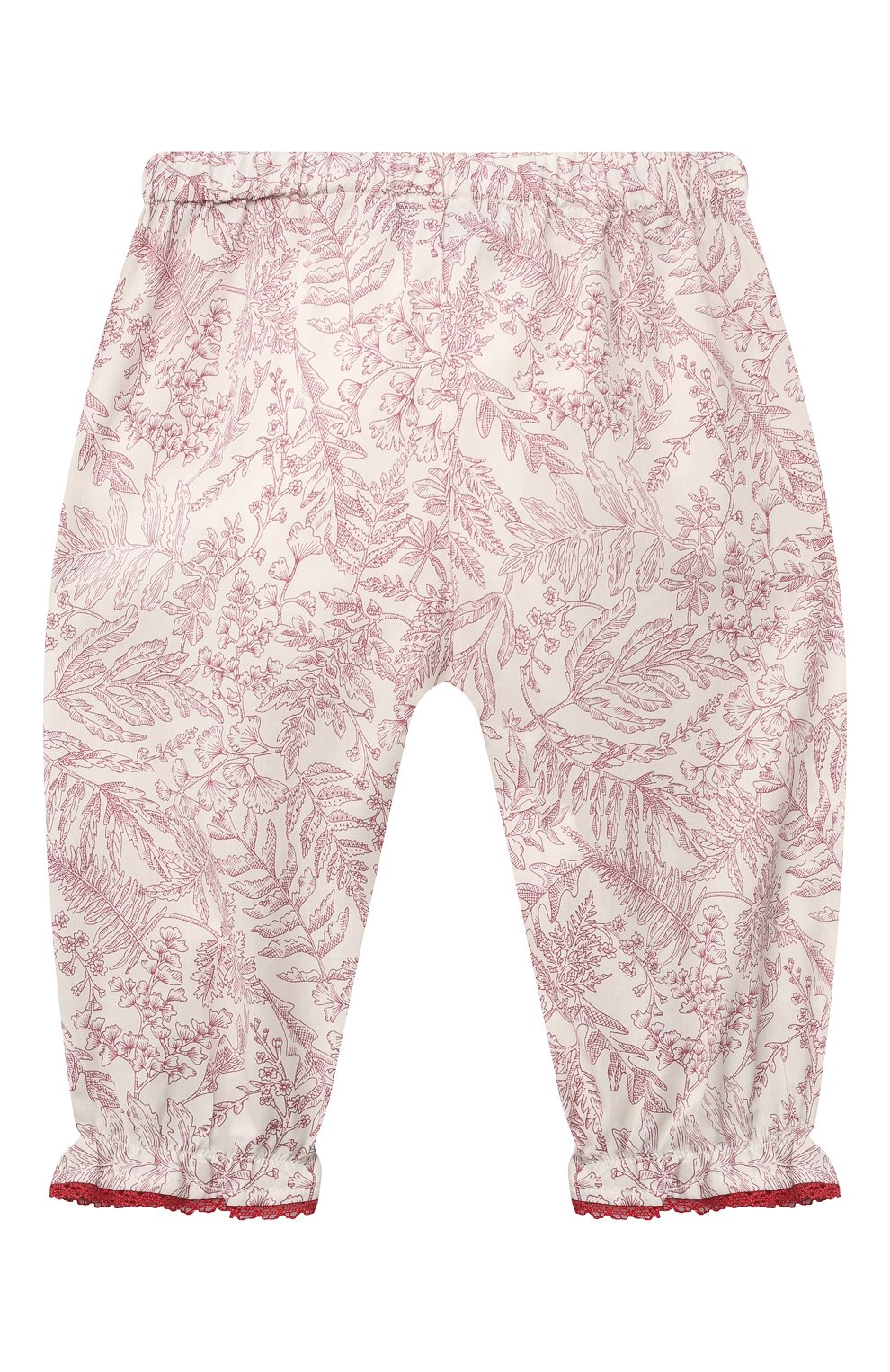 Детские хлопковые брюки TARTINE ET CHOCOLAT красного цвета, арт. TS22041/1M-18M   Фото 2