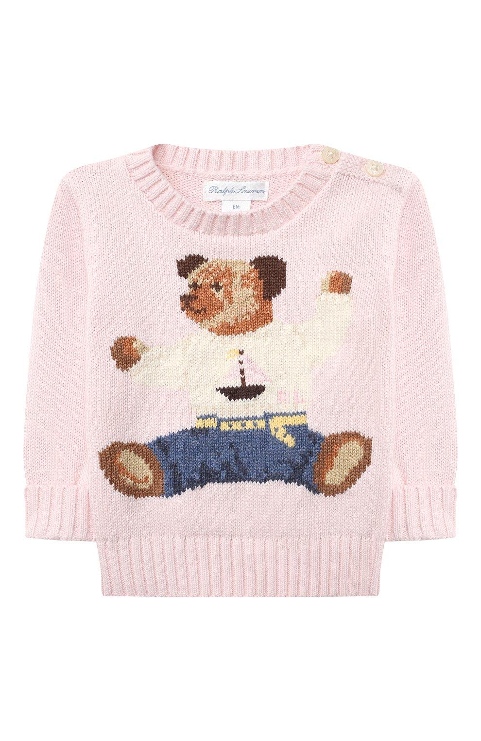 Детский комплект из пуловера и брюк RALPH LAUREN розового цвета, арт. 320835124 | Фото 2