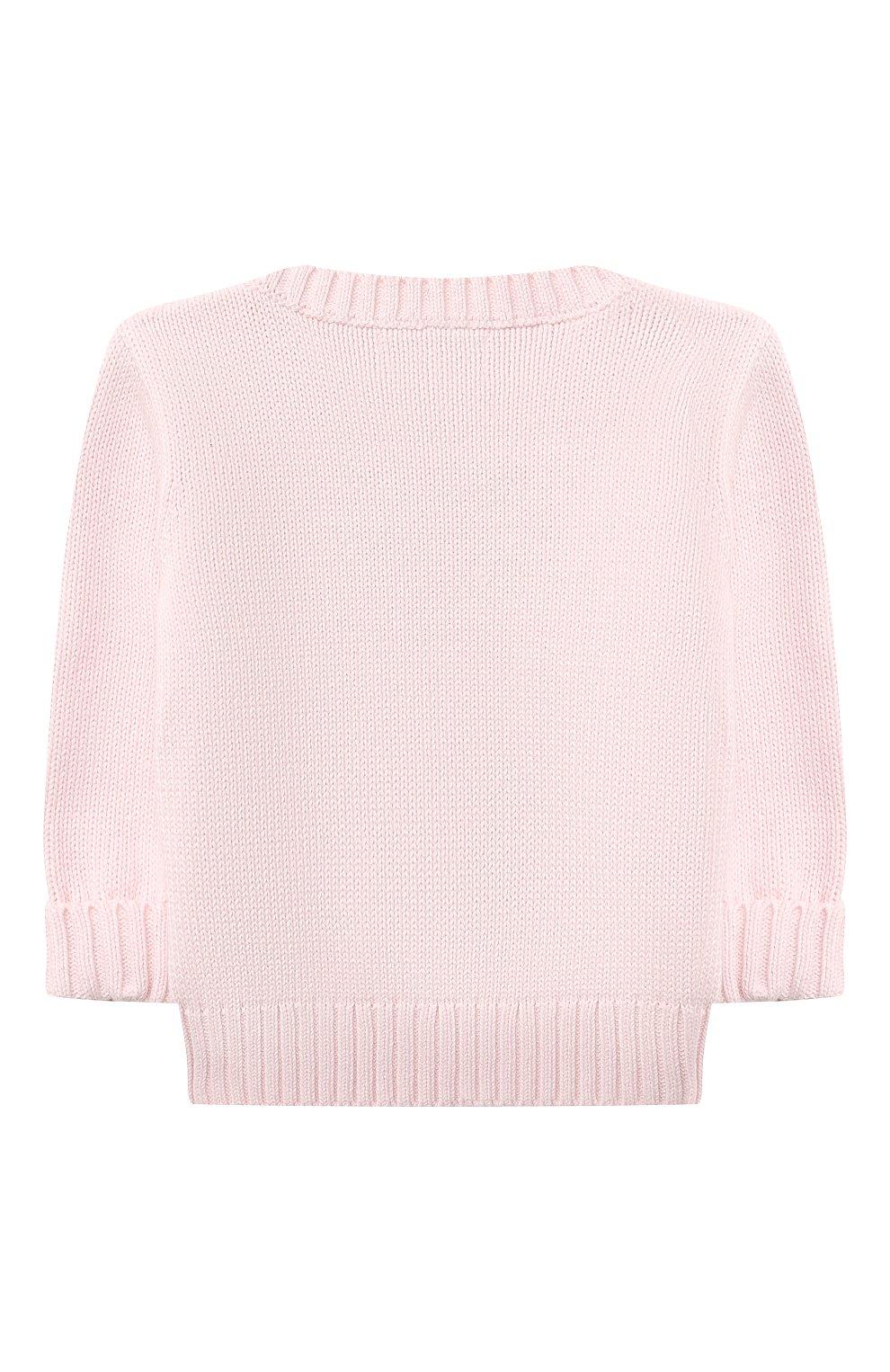 Детский комплект из пуловера и брюк RALPH LAUREN розового цвета, арт. 320835124 | Фото 3