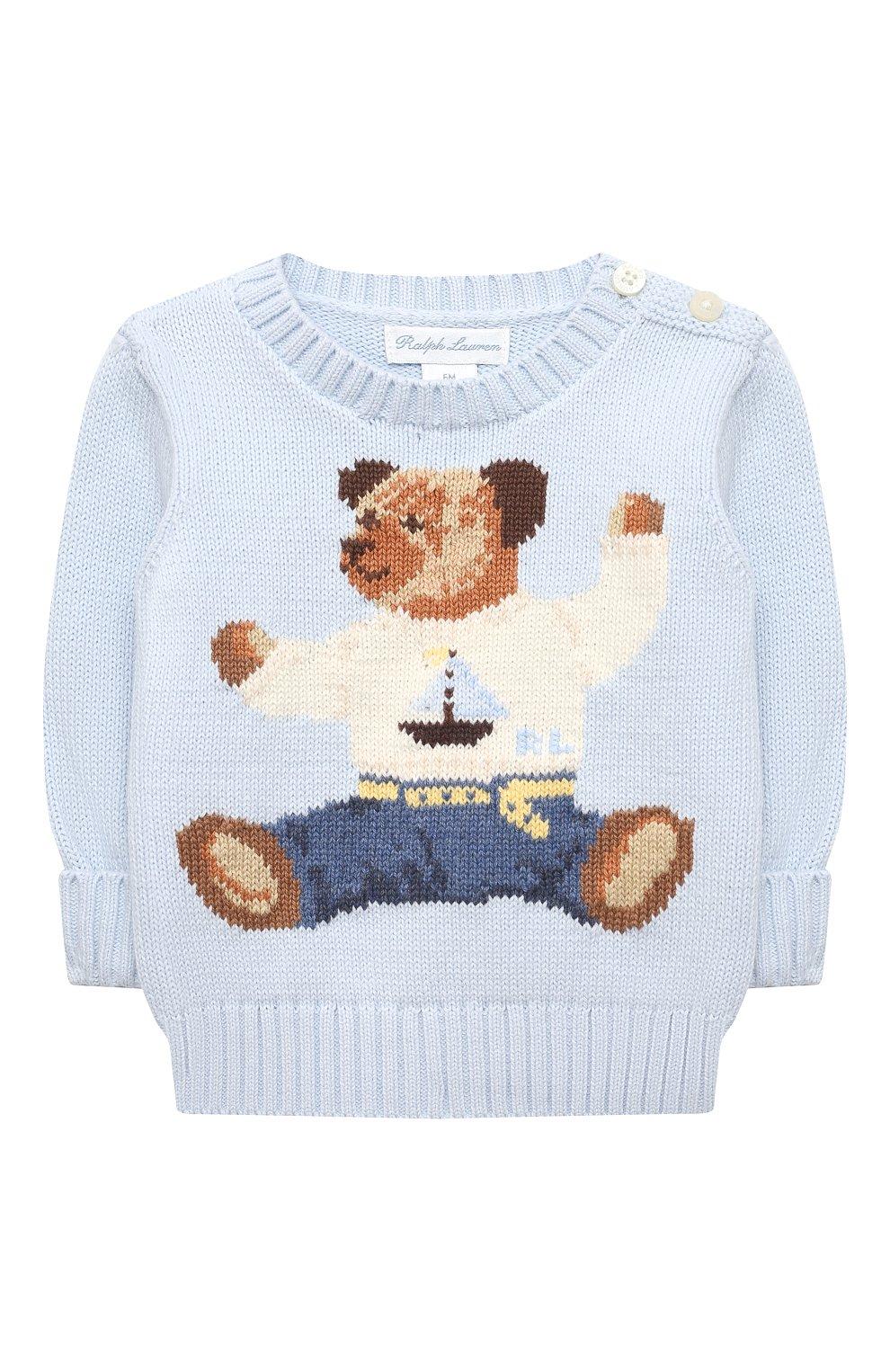 Детский комплект из пуловера и брюк RALPH LAUREN голубого цвета, арт. 320835124   Фото 2