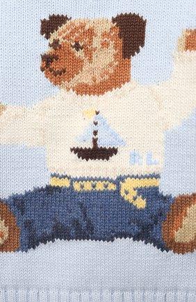 Детский комплект из пуловера и брюк RALPH LAUREN голубого цвета, арт. 320835124   Фото 6