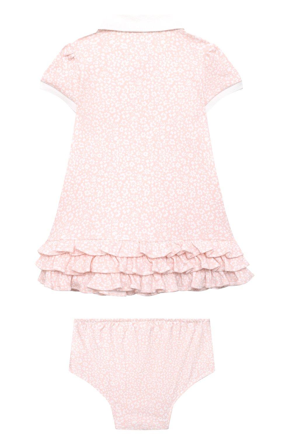 Женский комплект из платья и шорт RALPH LAUREN розового цвета, арт. 310833389 | Фото 2