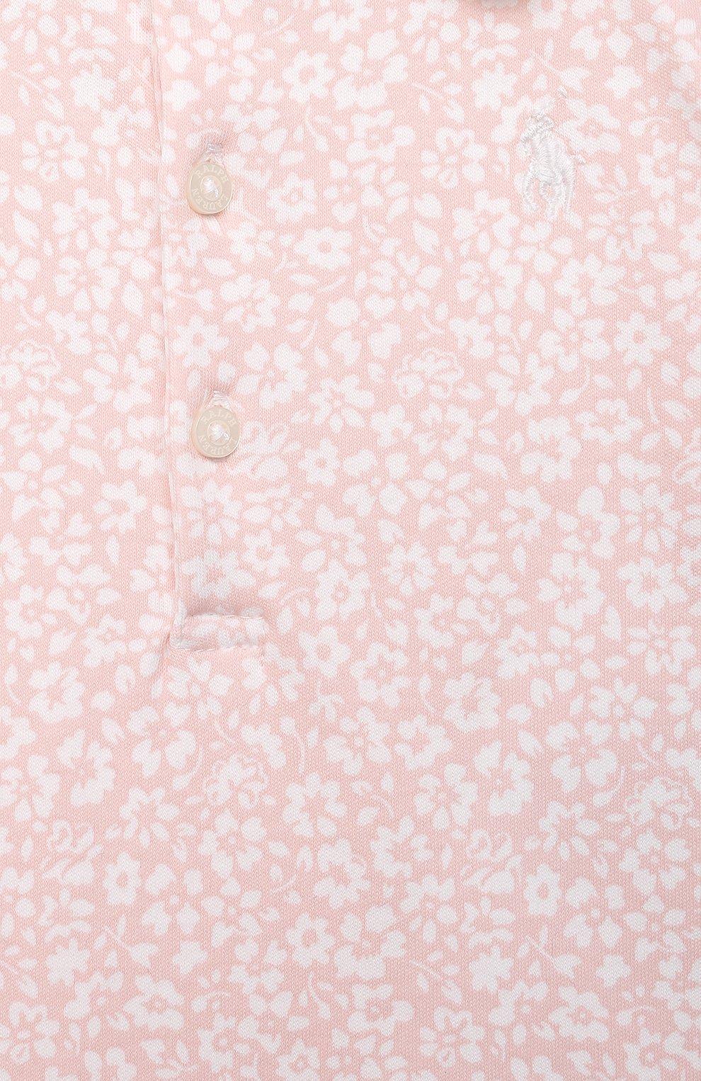 Женский комплект из платья и шорт RALPH LAUREN розового цвета, арт. 310833389 | Фото 3
