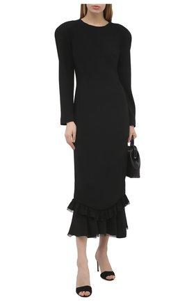 Женское платье ULYANA SERGEENKO черного цвета, арт. ABM019FW19P (1288т19) | Фото 2
