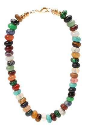 Женское колье HYPSO разноцветного цвета, арт. C0LLIER PEARL MAXI MULTI   Фото 1
