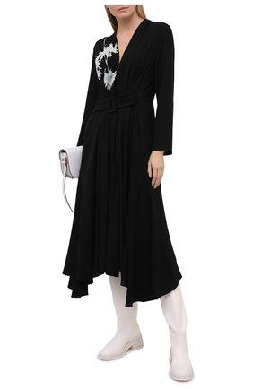 Женское шелковое платье GIORGIO ARMANI черного цвета, арт. 1SHVA07S/T01WH | Фото 2
