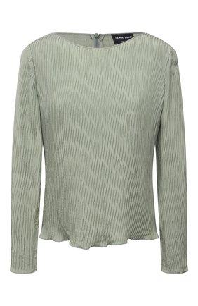 Женская шелковая блузка GIORGIO ARMANI светло-зеленого цвета, арт. 1SHCCZ20/TZ799 | Фото 1