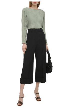 Женская шелковая блузка GIORGIO ARMANI светло-зеленого цвета, арт. 1SHCCZ20/TZ799 | Фото 2