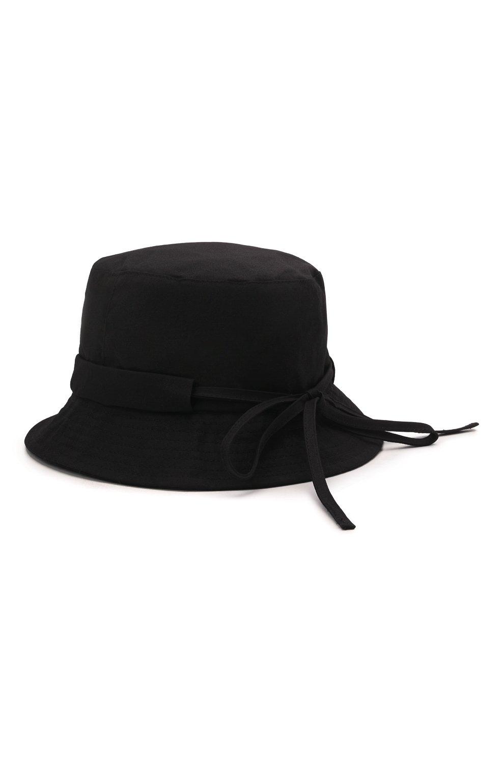 Женская хлопковая панама JACQUEMUS черного цвета, арт. 211AC03/504990   Фото 2
