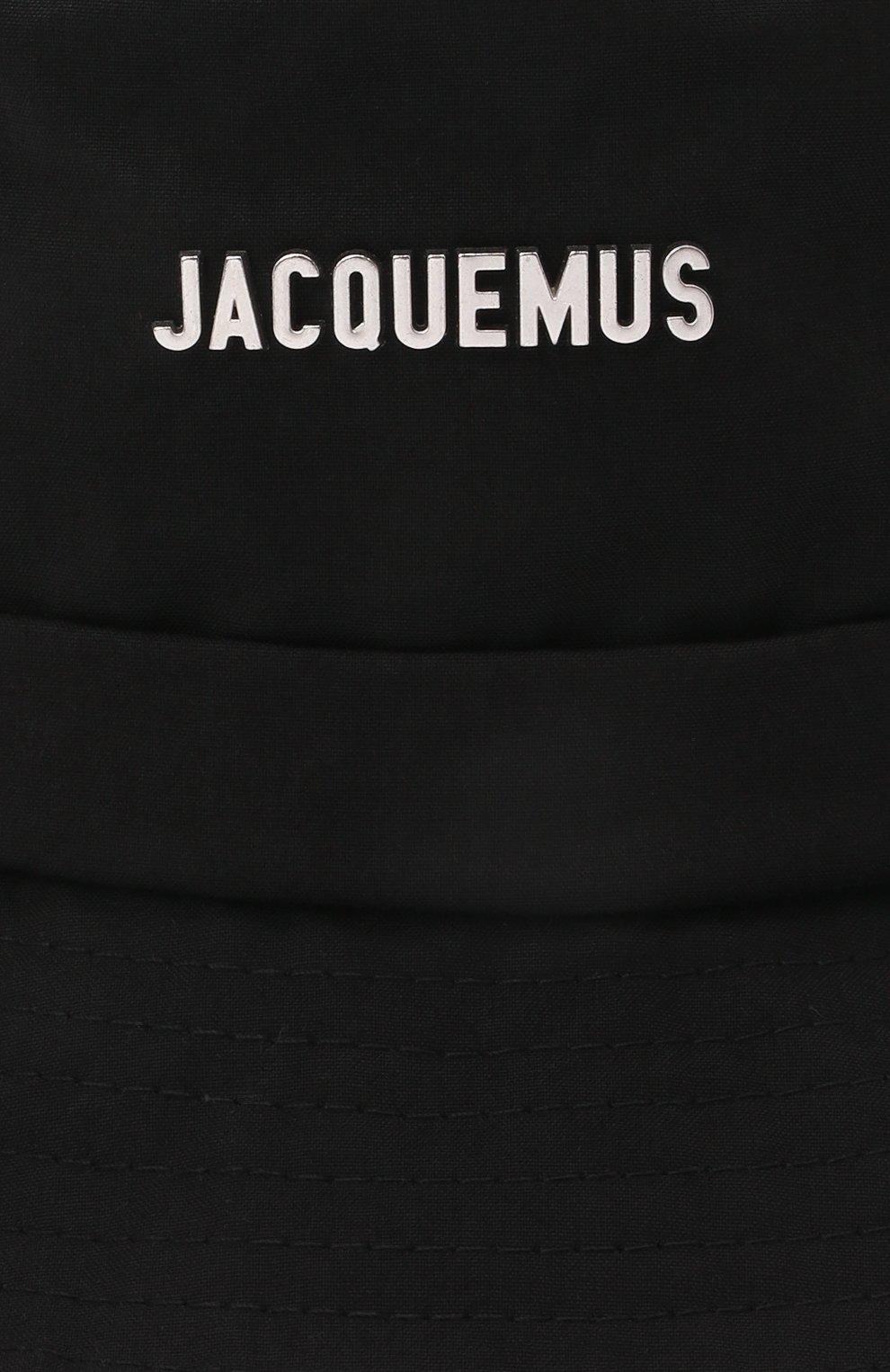 Женская хлопковая панама JACQUEMUS черного цвета, арт. 211AC03/504990   Фото 3