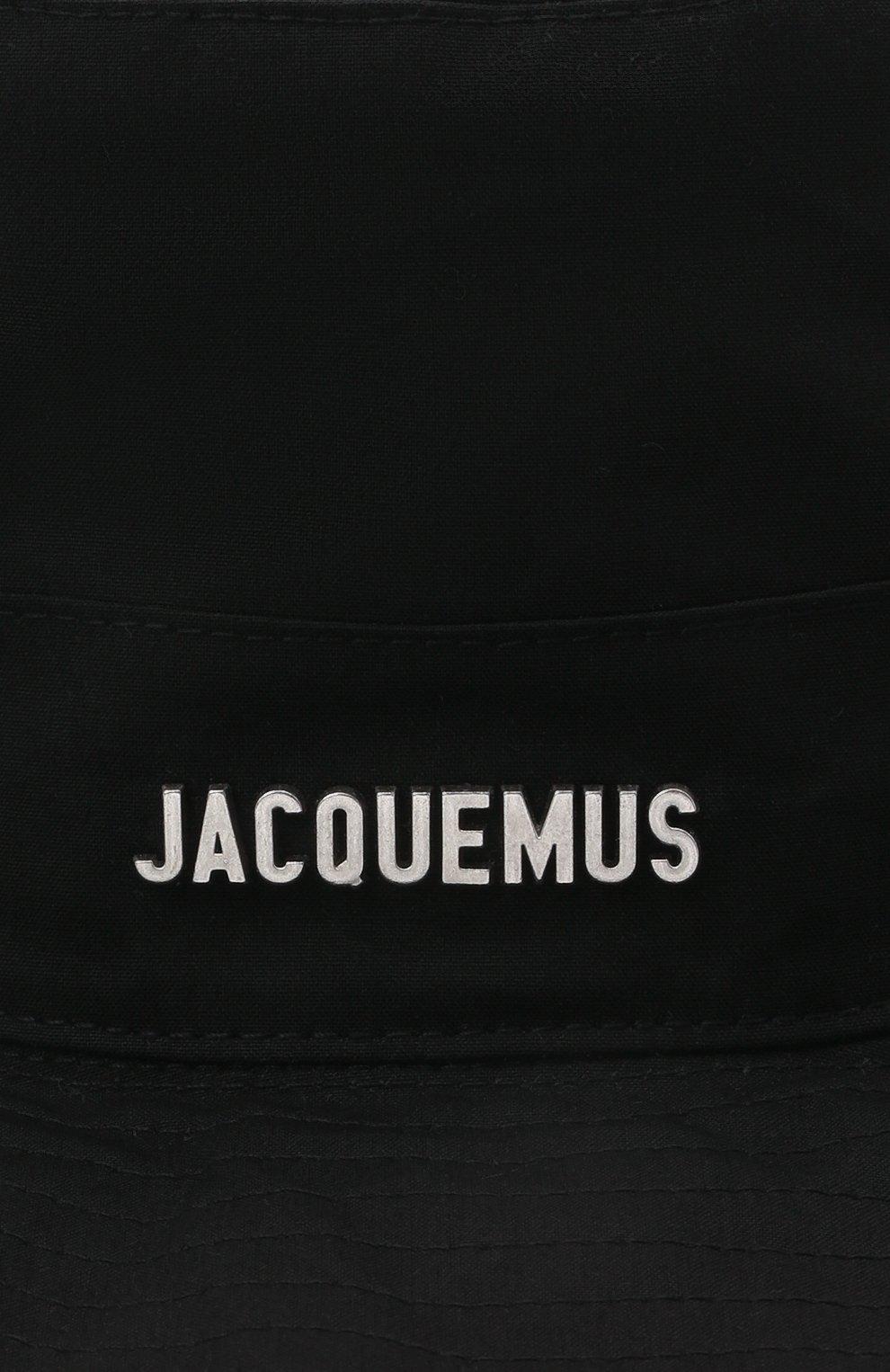 Женская хлопковая панама JACQUEMUS черного цвета, арт. 211AC01/504990 | Фото 3