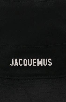 Женская хлопковая панама JACQUEMUS черного цвета, арт. 211AC01/504990   Фото 3